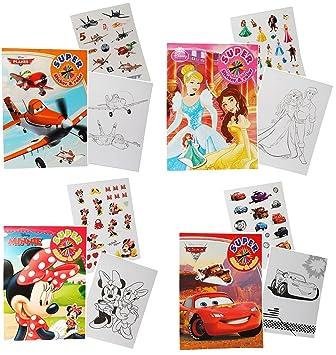 1 Stück Malblock Malbuch A4 Malheft Mit 16 Sticker Disney