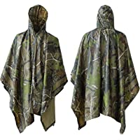 ElifeAcc Multifunctional Rain Cape Hooded Poncho - Waterproof Raincoat,Tent Ground Sheet Mat,Sunshade Tarp,Perfect for…