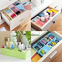 Inditradition Drawer Organizer, Dividers, Closet Storage Box   Multi-Purpose, ABS Plastic, Multi-Color (Pack of 4)