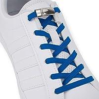 SULPO Elastische Gummi Schnürsenkel mit Metall-Magnetverschluss – Ohne Binden – Gummischnürsenkel – Schnürsenkelersatz…