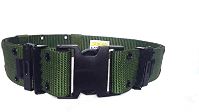 SUPER FORCE Military Belt 2.25 Inches Width(Olive Green_XXXL)