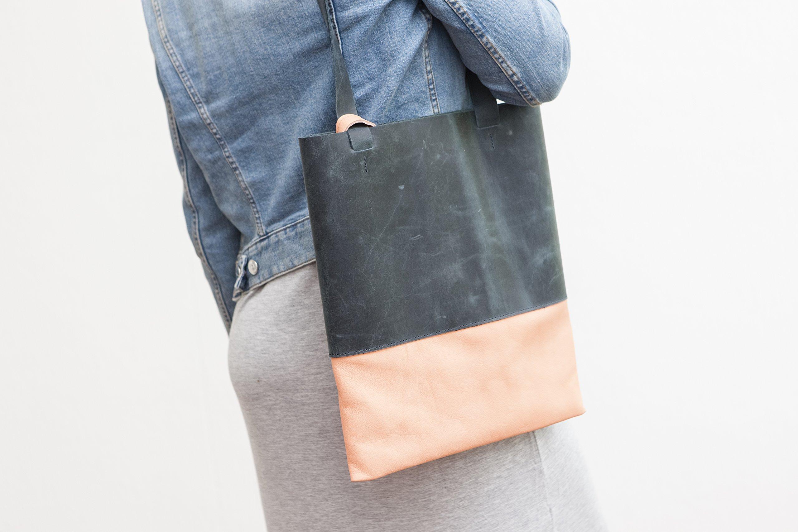 Black Tote Bag real leather Tote - handmade-bags