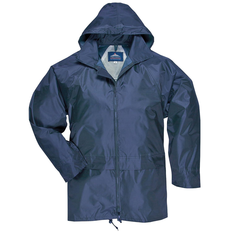 Portwest Mens Classic Rain Jacket (S440): Amazon.co.uk: Clothing
