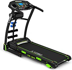 Kobo TM-304 Steel Motorized Treadmill (Black/Green)