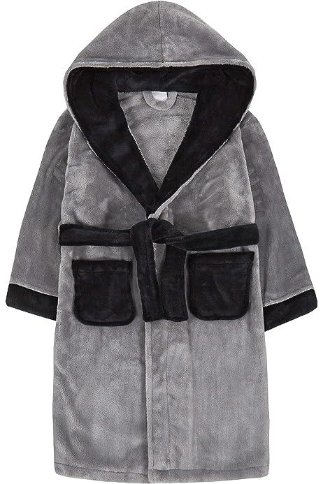 Plush 3D Shark Dressing Gown Hooded Character Bath Robe Kids House Coat Gift