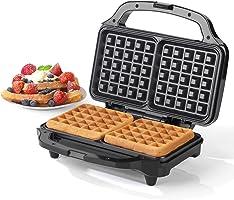 Salter EK2249 Deep Fill Waffle Maker, 900 W, Silver