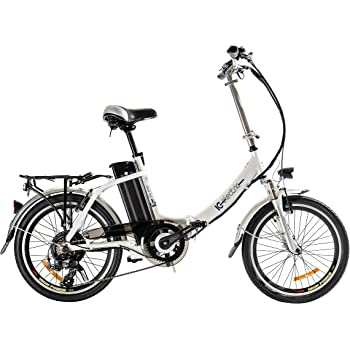 IC Electric Plume Bicicleta Plegable, Unisex Adulto, Blanco, Única