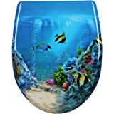 WOLTU WS2454 Toiletbril Duroplast WC bril met softclose mechanisme,WC deksel Snelle installatie met Werstelbaar Scharnier