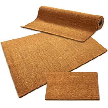 casa pura Kokos Fußmatte | Kokosmatte Meterware, auch für großflächige Eingänge | Kokosfaser Natur | viele Höhen und Größen (24mm, 50x80cm)