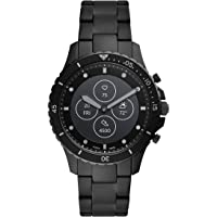 Fossil Fb-01 Hybrid Smartwatch Hr Analog-Digital Black Dial Men's Watch-FTW7017