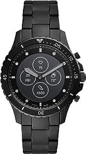 Fossil FB-01 HR- Smartwatch ibrido quadrante nero con cinturino in acciaio inossidabile per uomo