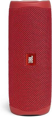 JBL Flip 5 Portable Waterproof Bluetooth Speaker (Red)