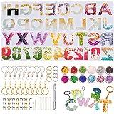 HONEYWHALE stampi in Resina siliconica, 186 Pezzi, per stampini in Resina con Lettere dell'alfabeto, Ideali per Feste di Nasc