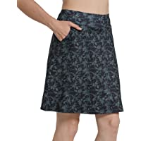 "Westkun Woman Knee Length Skirt 20"" Work Running Athletic Skort Travel Golf Skirts with Pockets Plus Size inner Shorts"