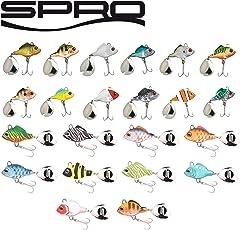 Spro ASP Jiggin Spinner - Spinnköder für Hecht, Barsch & Zander, Bleikopfspinner, Barschköder, Zanderköder, Jig, Spinnerjig