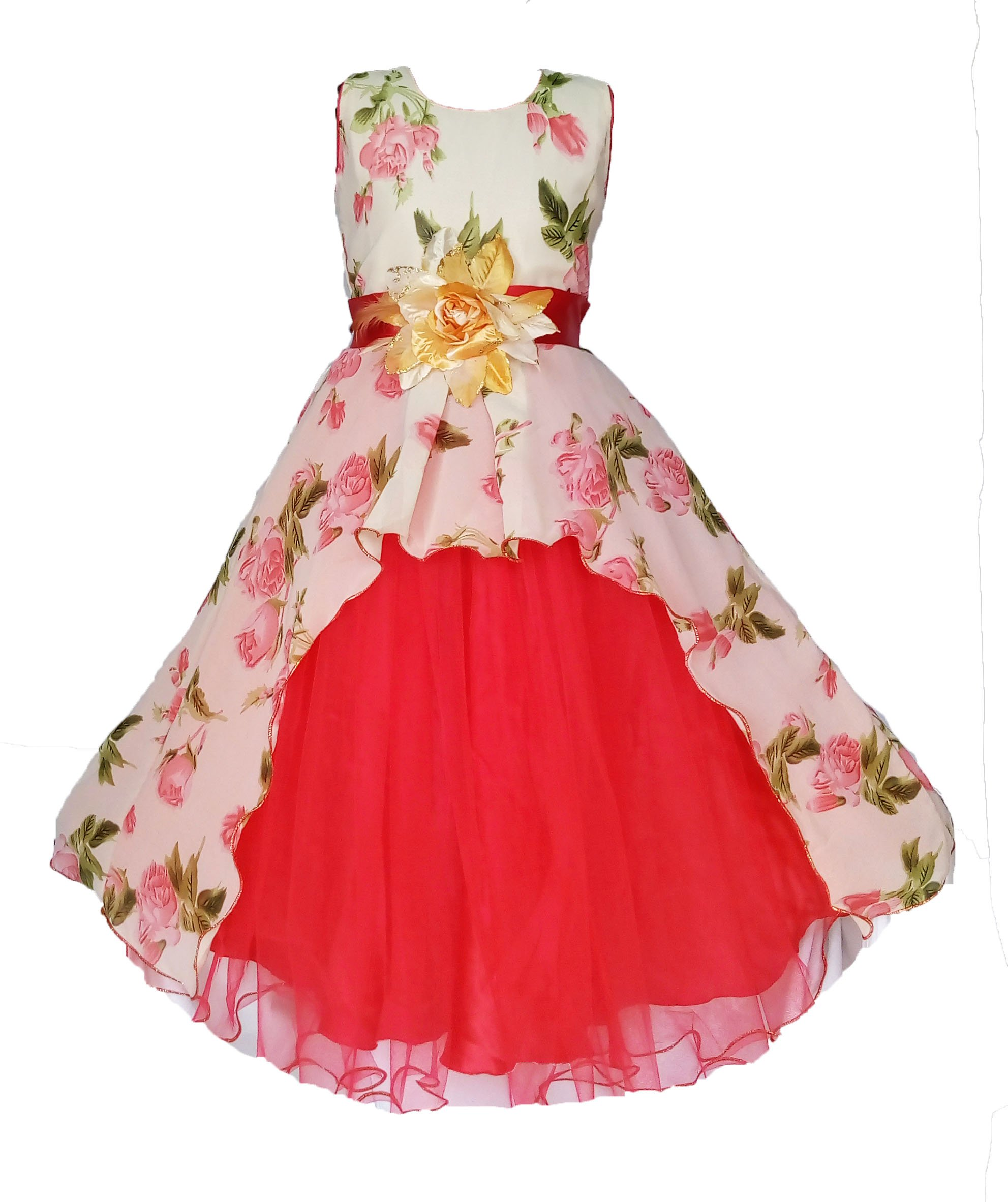 39c8ebeed My Lil Princess Baby Girls Georgette A-Line Dress (Cute Pastel 3-9 ...