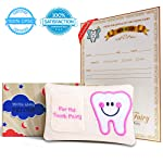 E-Com Highway Cherished Kid Tooth Fairy Pillow Kit for Boy Girl with Pouch and Letter Note - Keepsake Box Makes it a...