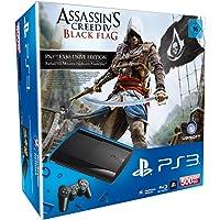PlayStation 3 - Konsole Super Slim 500 GB (inkl. DualShock 3 Wireless Controller + Assassin's Creed: Black Flag)