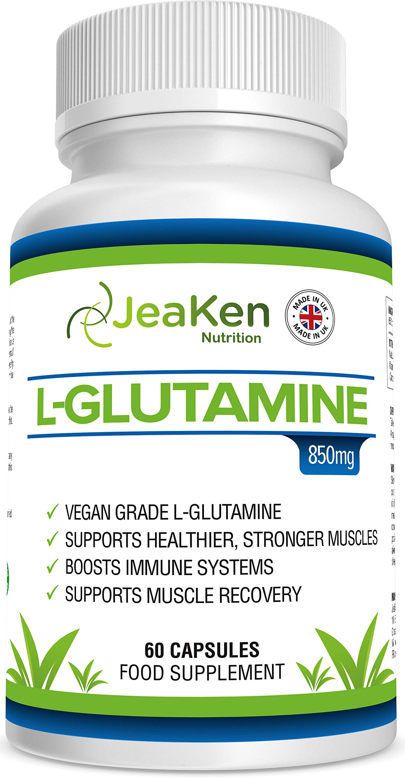 81fUyg464IL - JeaKen - L-GLUTAMINE Capsules - from Essential Amino Acid Powder - Amino Acids Supplements to Boost Muscle Recovery…