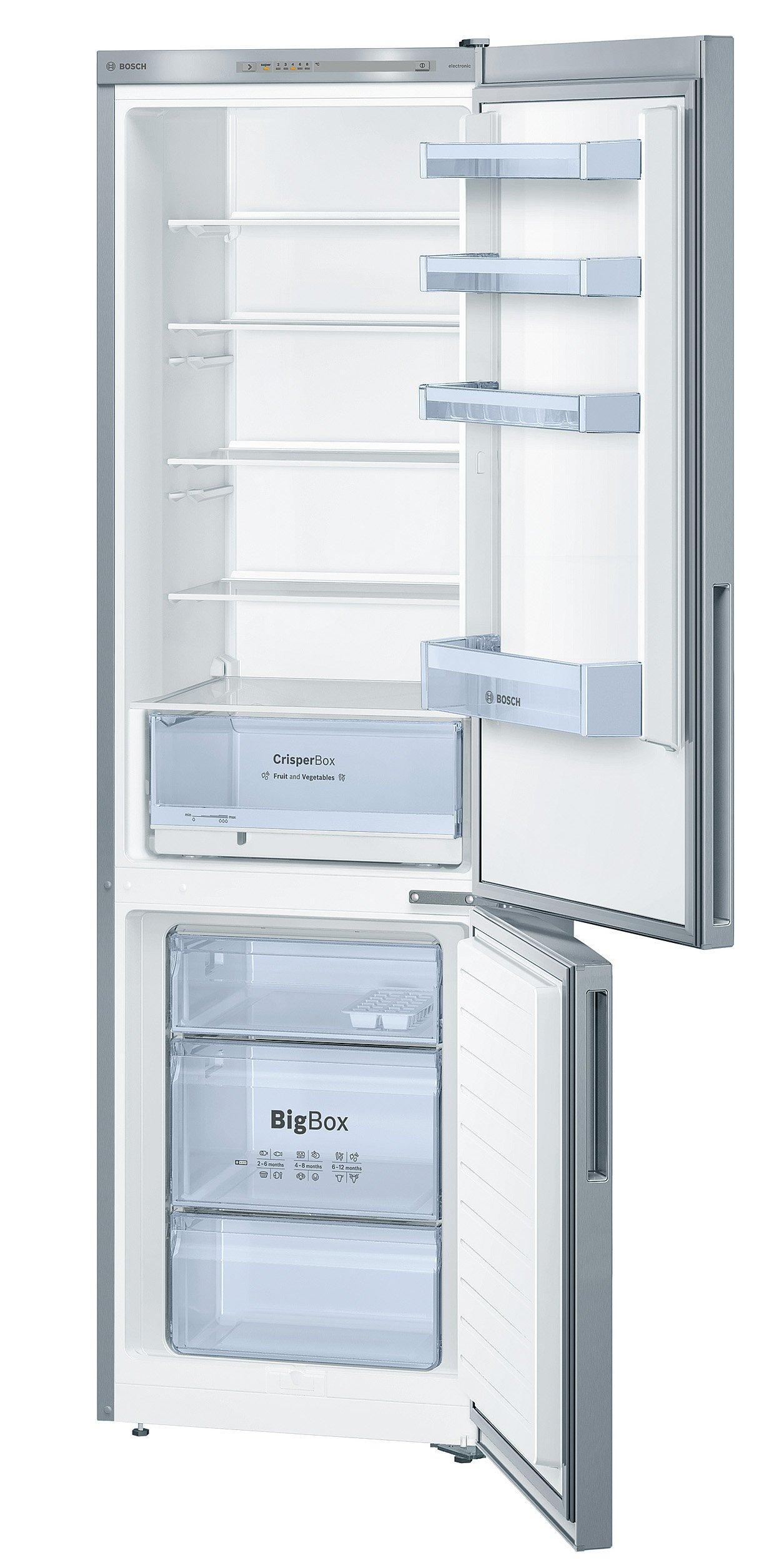 Bosch KGV39VL33 Serie 4 Freistehende Kühl-Gefrier-Kombination / A++ / 201 cm / 237 kWh/Jahr / Inox-look / 248 L Kühlteil…