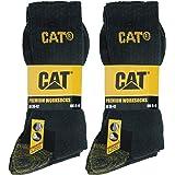 Caterpillar Premium Work Socks 6 Paia di Calze Lavoro Uomo, Doppio Rinforzo Punta Tallone, Spugna Cotone