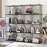 HOMEYFINE étagère, Stockage de Cubes étagère de Rangement Portable étagère avec Organisateur en métal Multifonction Peu encom