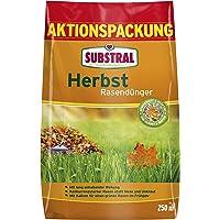 Substral Herbst Rasendünger, kaliumreicher Spezial-Rasendünger mit lang anhaltender Wirkung für 250 m², 6,25 kg Sack