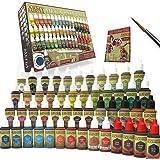 The Army Painter Miniature Painting Kit Mega Paint Set 3 for Model Paints with Wargamer Regiment Miniatures Paint Brush