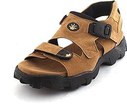 Fucasso Men's Synthetic Tan Sandals