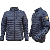 Whispering Jones London Mens Jackets Zip Up Quilted Lined Bubble Coat Padded Puffer Winter Warm Coat