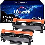 2 Uniwork TN2420 TN-2420 Cartucce di Toner Compatibile per Brother TN-2420 TN2410 per Brother MFC-L2710DW L2710DN L2730DW L27