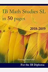 IB Math Studies SL in 50 pages: 2018-2019 (English Edition) Format Kindle