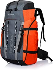 Suntop Trek 65L (with Internal Frame) Travel Bag Backpacking Backpack for Outdoor Hiking Trekking Camping Rucksack(Orange)