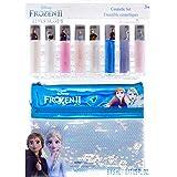 Disney Frozen 2 - Townley Girl Ensemble de brillants à lèvres Anna et Elsa avec sac à paillettes, 3 ans et plus (9 pièces)