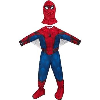 Marvel I-630730M - Costume di Carnevale classico, Uomo Ragno con galosce, M