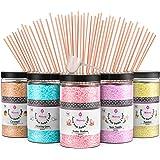 Misskandy, sucre barbe à papa pour machine/lot de (5 * 300Gr)= 1,5kg/ arômes :Fraise, Vanille, Ananas, Caramel, Chewing-gum/p