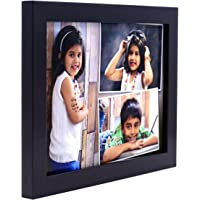 AJANTA ROYAL Personalized Synthetic Wood Wall Photo Frame (6 x 8 inch, Black)