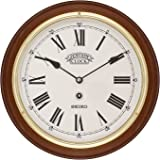 Seiko Wall Clock (28.2 cm x 28.2 cm x 4.4 cm, Brown, QXA144BN)