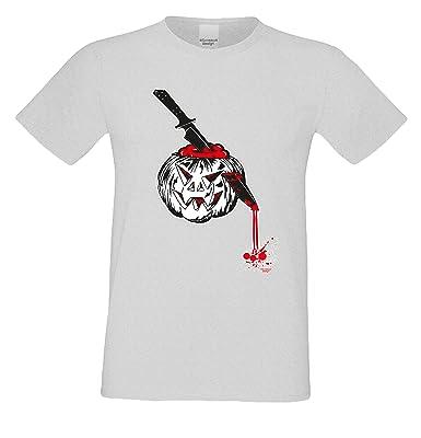 Herren-Halloween-Kostüm-Motiv-Fun-T-Shirt auch in Übergrößen 3XL 4XL 5XL  Kürbis cooles Funny Sprüche-Shirt Party Outfit Farbe: grau: Amazon.de:  Bekleidung