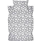 Amilian barnsängkläder 2-delat 100 % bomull barn sängkläder babysängkläder för baby påslakan 100 x 135 cm, örngott 40 x 60 cm