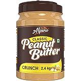 Alpino Classic Peanut Butter Crunch 2.4 KG | Made with Roasted Peanuts | 25% Protein | Non GMO | Gluten Free | Vegan