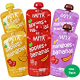 Happa Organic Baby Food, Favourite Fruits Variety Pack (Apple+ Mango, Mango + Banana, Apple + Banana), 100 Gram Pouch…