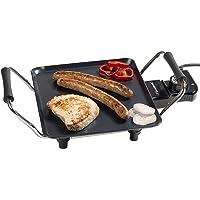 Bestron Plancha/Plaque de cuisson teppanyaki électrique antiadhésive, 1000 W, Noir