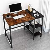JOISCOPE Bureau d'ordinateur, Table d'ordinateur Portable, Table d'étude avec étagères en Bois, Table Industrielle en Bois et
