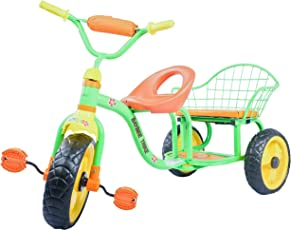 Baybee Mordor Tricycle | Children Toy Tricycle Two Seats with Handle Bar I Suitable for Boys & Girls ( Green )