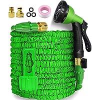 Garden Hose,Hose Pipe Expandable Hose 50FT Heavy Duty Flexible Leakproof Hose High-Pressure Water Spray Nozzle & Bag…