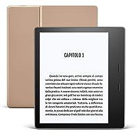 Kindle Oasis - Ora con tonalità della luce regolabile - Resistente all'acqua, 32 GB, Wi-Fi, Gold