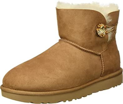 UGG Mini Bailey Button Bling, Classic Boot Donna