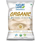 Natureland Organics Wheat Suji / Sooji 500 Gm (Pack of 5) - Organic Sooji
