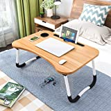 Renexa Home kitchenware Wooden Laptop Table Foldable Portable Notebook Table Lap Desk Tray Stand, Reading Holder with Coffee
